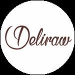 Deliraw organic raw bar logo
